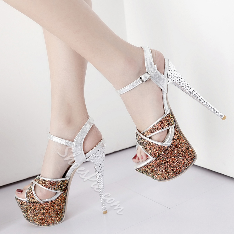 Shoespie Night Club Platform Heel Sandals