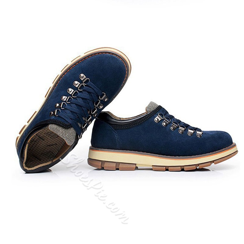 Shoespie Round Toe Lace Up Men's Boots