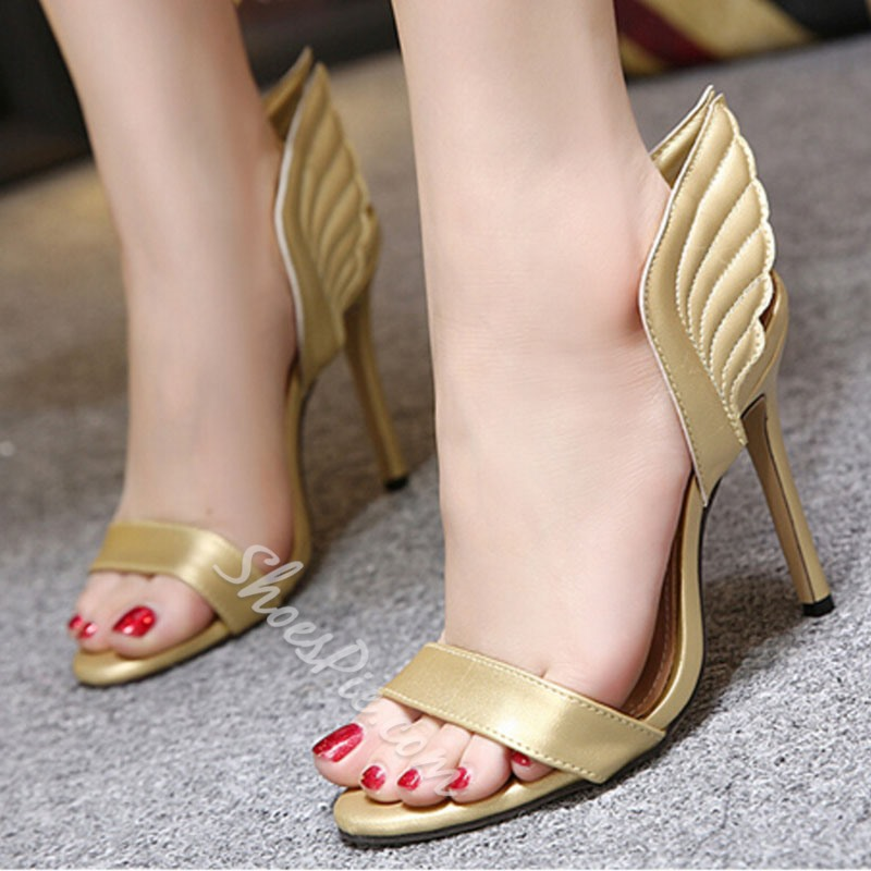 Shoespie Cute Wings Heel Mules