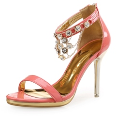 Shoespie Rhinestones and Chains Dress Sandals
