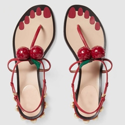 Shoespie Cute Cherries Flat Sandals