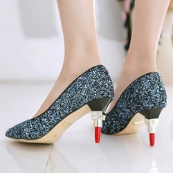 Shoespie Trendy Glitter Lipstick Stiletto Heels