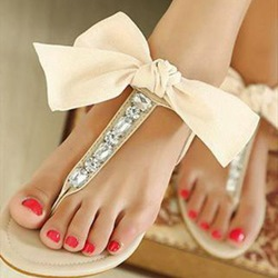 Shoespie Cute Ribbon Bows Flat Sandals