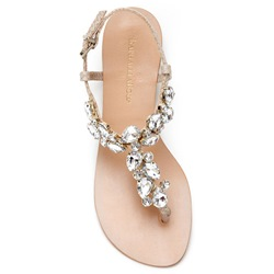 Shoespie Bright Rhinestones Thong Flat Sandals