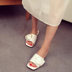 Shoespie Open Toe Flat Mules