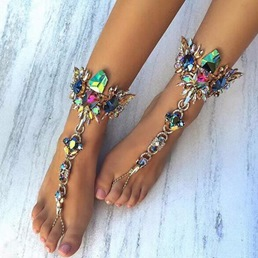Shoespie Gorgeous Exotic Style Rhinestone Anklet
