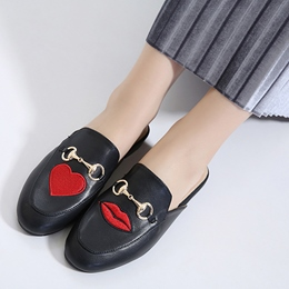 Shoespie Sweet Print Backless Comfortable Loafers