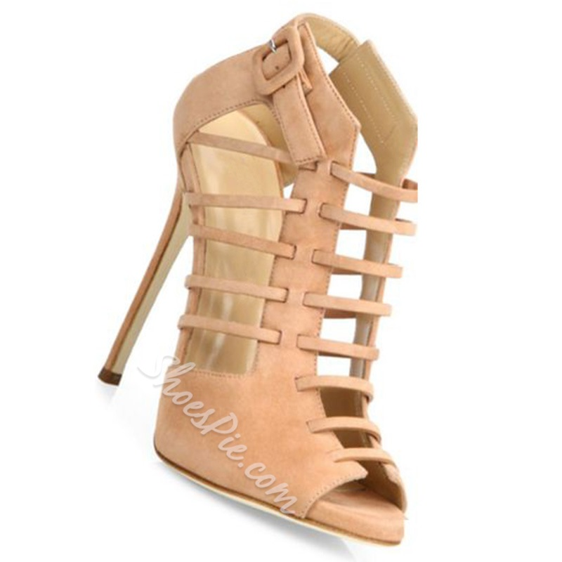 Shoespie Nude Cage Sandals