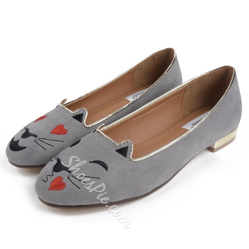 Shoespie Cute Cat Print Comfortable Loafers