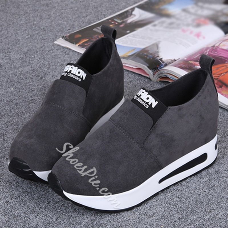 Shoespie Casual Slip-On Hidden Heel Sneakers