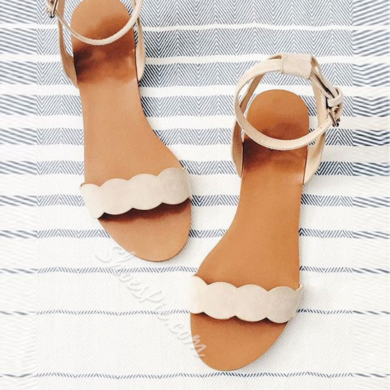 f273b4983f66 Shoespie Cute Nude Flat Sandals