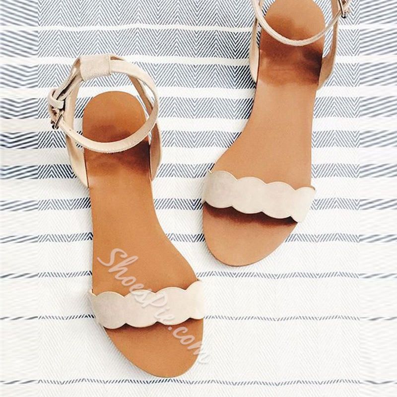 815d0c5b4 Shoespie Cute Nude Flat Sandals- Shoespie.com