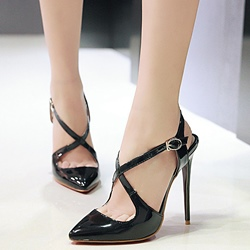 Shoespie Classy Cross Wrap Work Wear Stiletto Heels