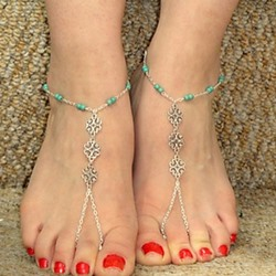 Shoespie Beading Thong Anklets