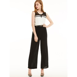 Slim Wide Legs Color Block Jumpsuit