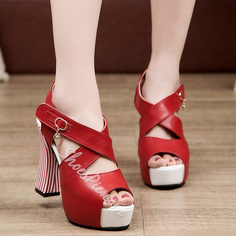 Shoespie Stylish Open Toe Stiletto High Heels Sandals