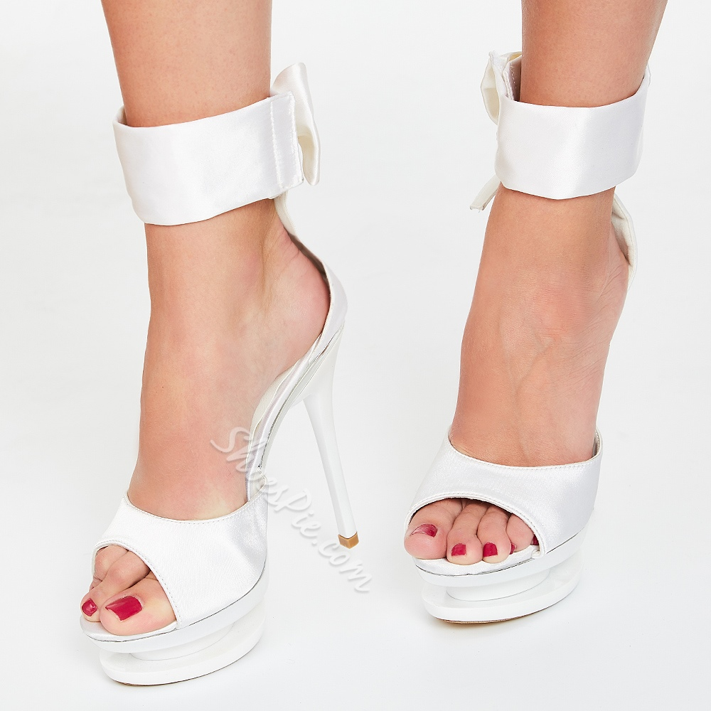 Shoespie Elegant White Color Dress Sandals
