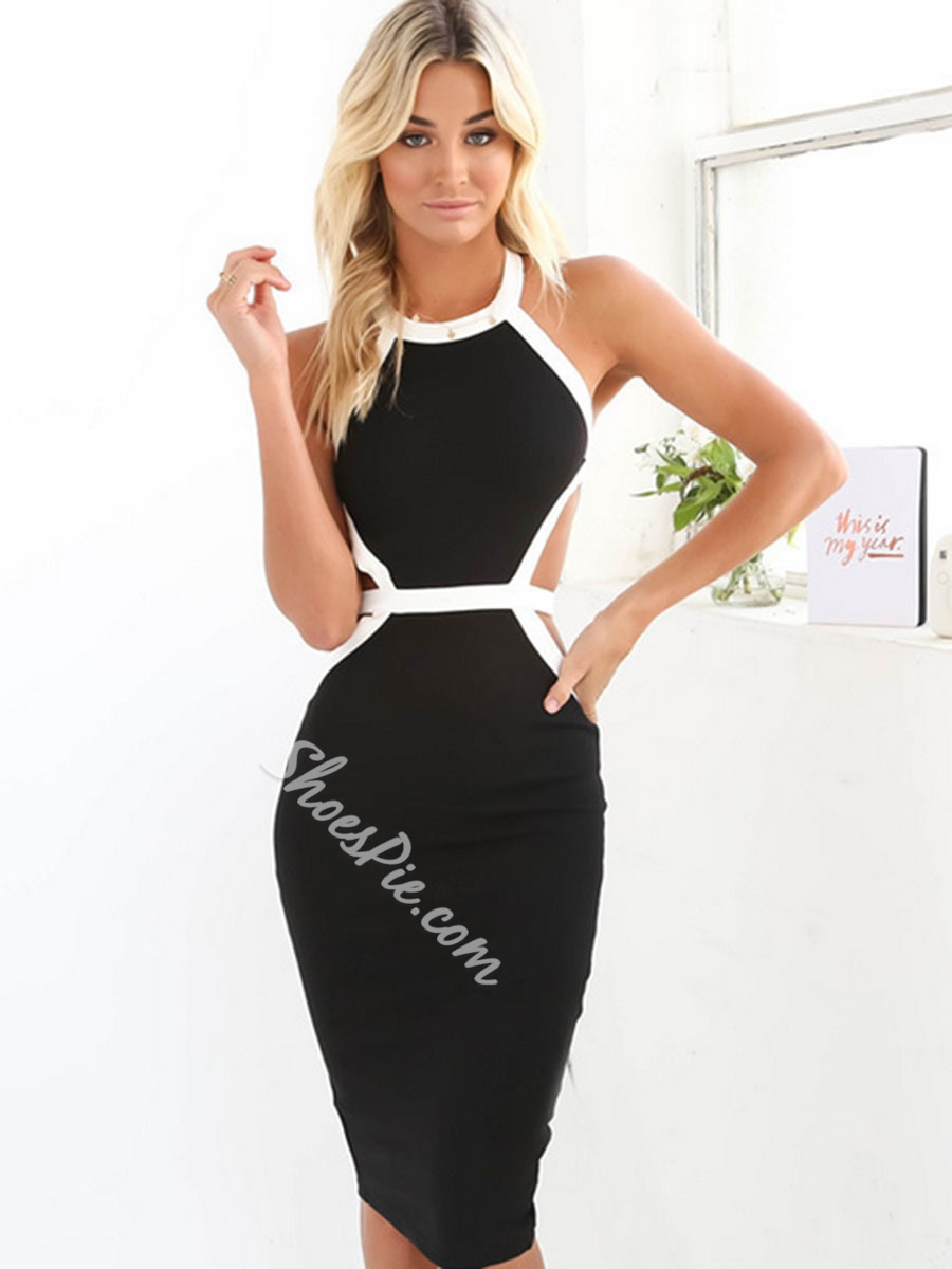 Shoespie Backless Strapped Bodycon Dress