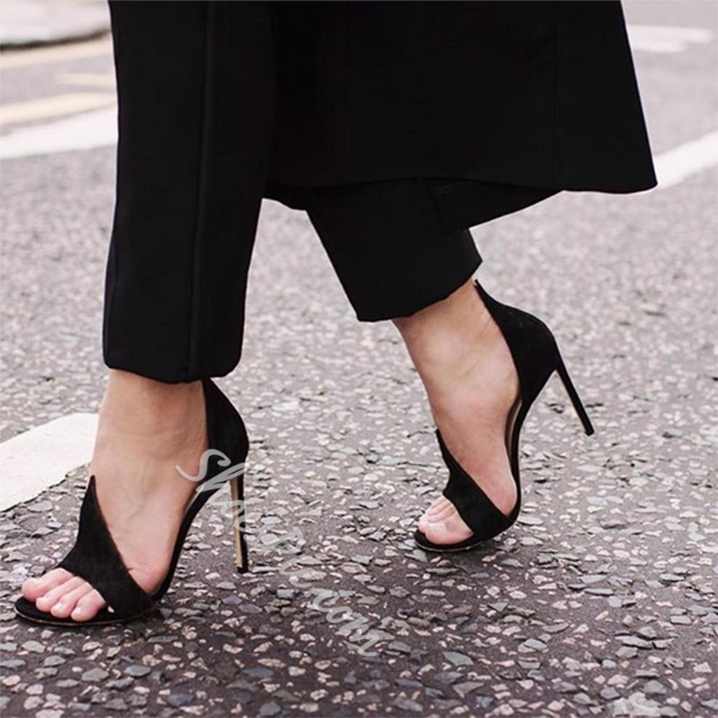 Shoespie Chic Simply Curve Open Toe Stiletto Heels