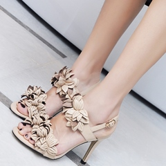 Shoespie Chic Leaves Slingbacks Heel Sandals