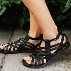 Shoespie Design Weave Beach Flat Sandals