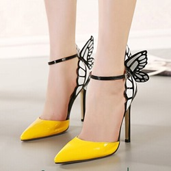 Newest Point Toe Stiletto Heel Butterfly Dress Sandals