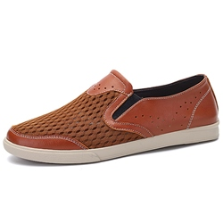 Shoespie Mesh Pathwork Men's Loafers