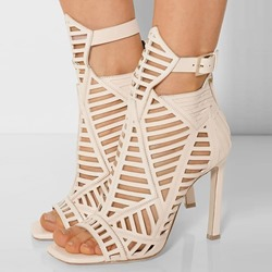 Shoespie Sexy Cut-out Buckle Zipper Stiletto Sandals