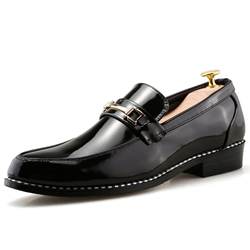 Shoespie Brushed Toe Treading Men's Dress Shoes