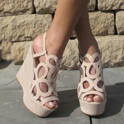 Shoespie Sweet Cut-Outs Wedge Sandals