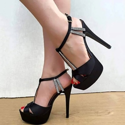 Shoespie Sexy Peep-Toe Platform/Stiletto Heel Sandals