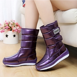 Comfortable Flat Mid-Sharft Snow Boots