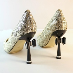 Shining Fashionable Pointed-Toe Stiletto Heels With Bowtie
