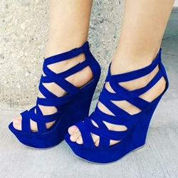 Perfect Cut-Outs Coppy Leather Ankle Strap Flat Sandals