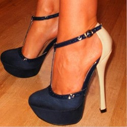 Fashion Stiletto Heels With Ankle Straps