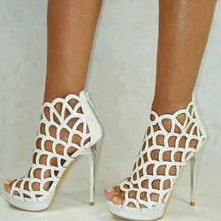 Fashionable Cut-Outs Peep-toe Stiletto Heels
