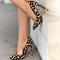 Fashionable Leopard Print Point-Toe Stiletto Heels
