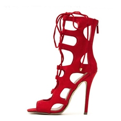 Fascunatung Cut-Outs Cloth Dress Sandals