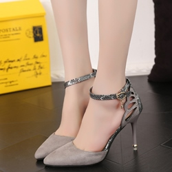 Shoespie Stylish Cut Out Ankle Wrap Stiletto Heels