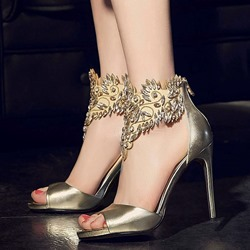 Shoespie Fashion Ankle Rhinestone Stiletto Heels