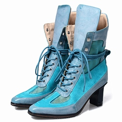 Shoespie Design Vintage Color Block Fashion Booties