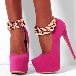 Shoespie Rose Party Queen Platform Heels