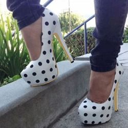 Chic Polka Dot Platform Stiletto Heels