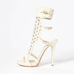 Shoespie Cut-out Stiletto Dress Sandals