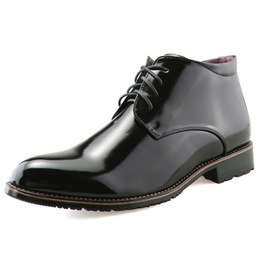 Shoespie Brushed Toe Lace Up Men's Boots