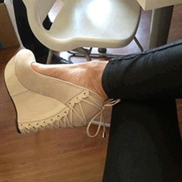 Shoespie Comfortable Wedge Heel Apricot Suede High Heels