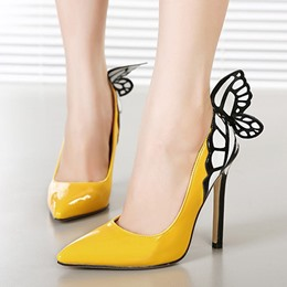 Amazing Butterfly Pointed-toe Heels