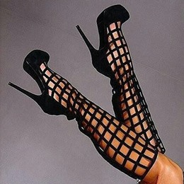 Shoespie Cut outs Caged Platform Heels