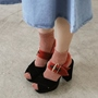 Shoespie Block Color Platform Block Heel Sandals