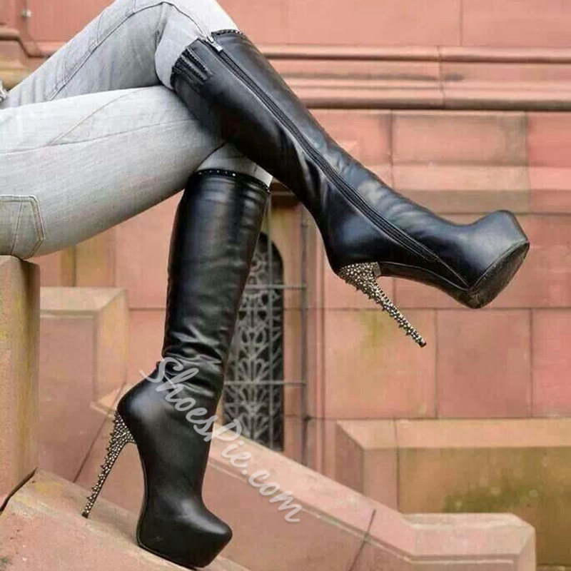 Shoespie Sexy High Stiletto Heel Knee High Boots- Shoespie.com